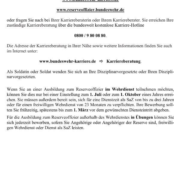 Bundeswehr Roa Während Fwd Reserveoffizier