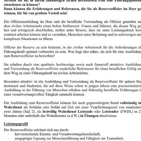 vorletzter absatz bundeswehr fwd roa - Bundeswehr Freiwilliger Wehrdienst Bewerbung