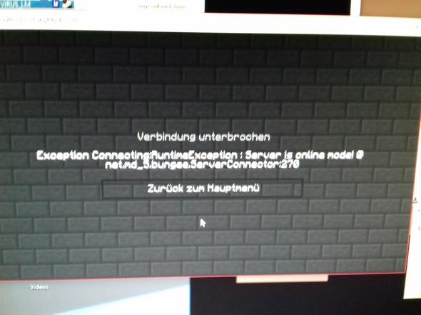 Diese Fehlermeldung kommt jedes mal wenn ich joine Hilfe!  - (Minecraft, BungeeCord)