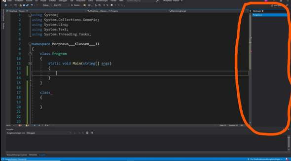 C# / Visual Studio Projektmappe ausklappen?