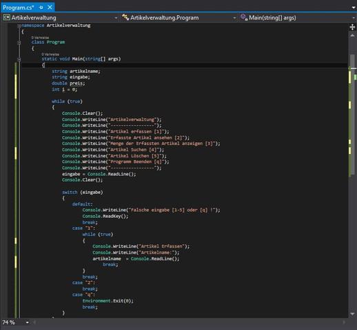 Mein Programmcode... - (Windows, programmieren, Code)