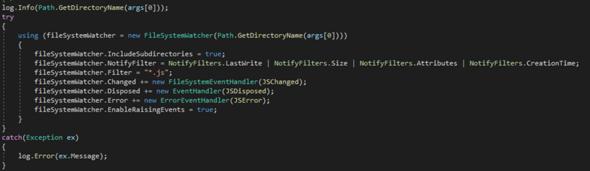 C# FileSystemWatcher Disposed sich von selbst?