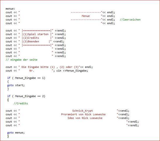 code 1 - (Computer, programmieren, QuellCode)