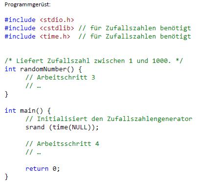 Zufallsgenerator Programmieren