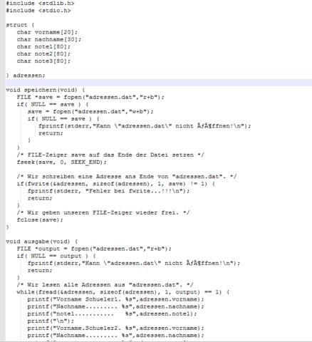 Mein Code Anfang - (Programm, C Programmierung, hohes-c)