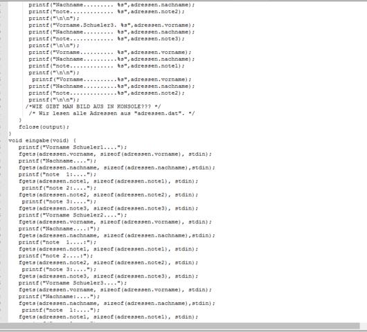 Mein Code Mitte - (Programm, C Programmierung, hohes-c)