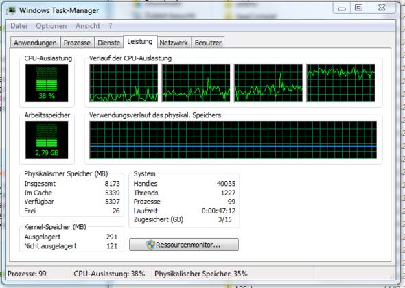 Leistung - (Computer, Windows 7, Explorer)