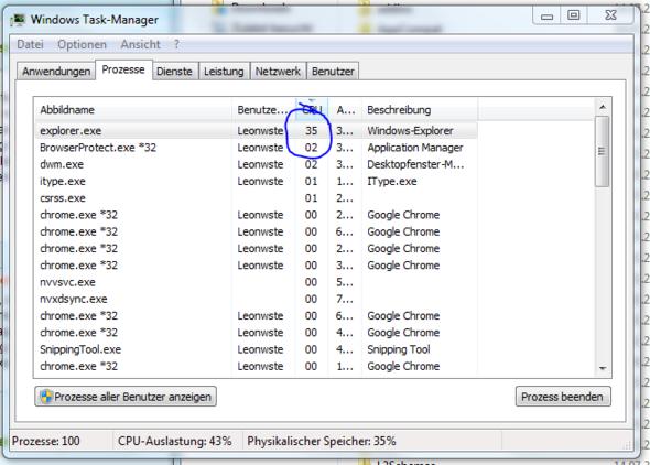 Prozesse - (Computer, Windows 7, Explorer)