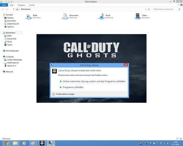 So sieht die Fehlermeldung aus. - (Windows, PC-Spiele, Call of duty)