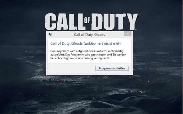 CoD Ghosts startet sich nicht - (PC, Spiele, Games)