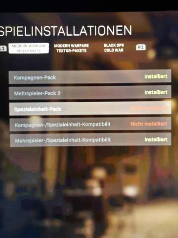 Call of Duty Modern Warfare Installation angehalten?
