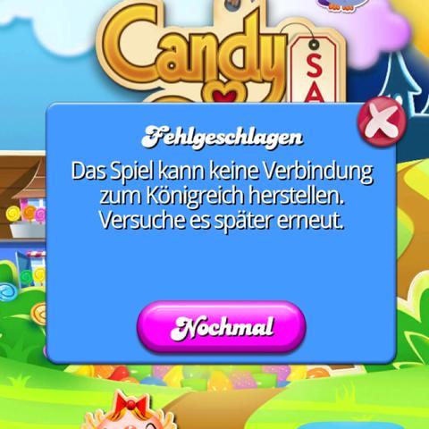 Candy Crush kann nicht mit Facebook verbunden werden?!