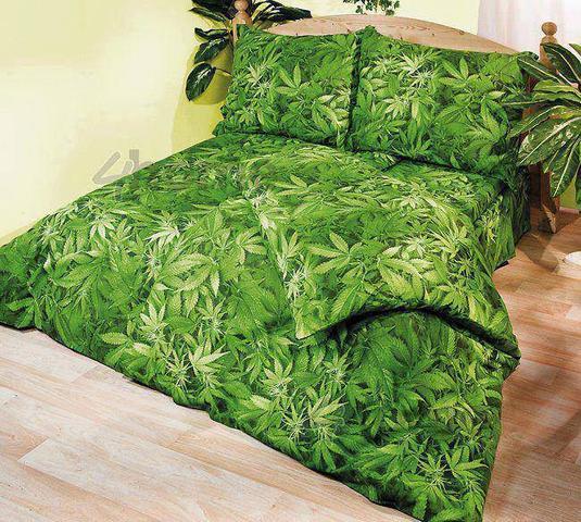 cannabis blatt bettw sche kaufen freizeit textilien. Black Bedroom Furniture Sets. Home Design Ideas