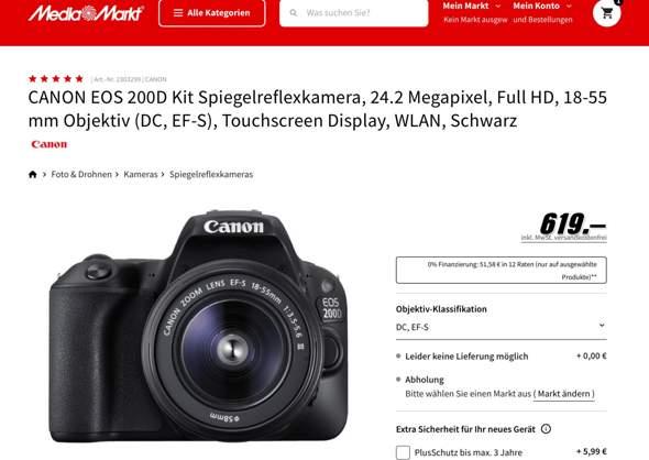 Canon Eos 200d oder 250d?