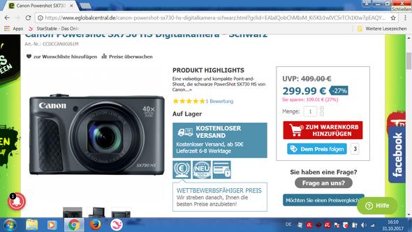 Canon Powershot SX730 - (Canon, Digitalkamera, Kompaktkamera)