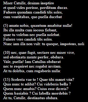 Carmen 8 - (Schule, Latein, Interpretation)