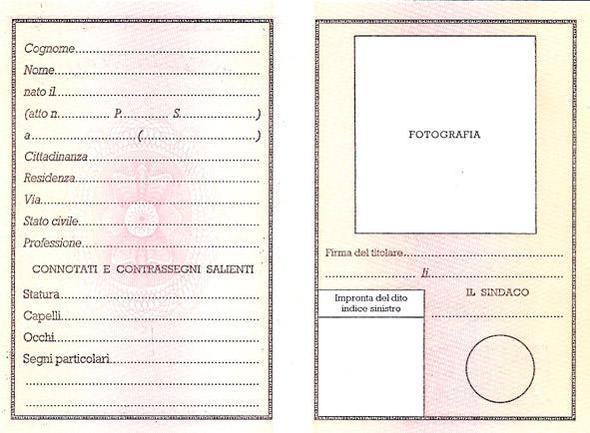 Das hier? - (Italien, Personalausweis)