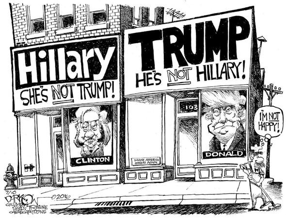 Hillary Trump Caroon - (english, Cartoon, trump)