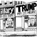 Hillary Trump Caroon