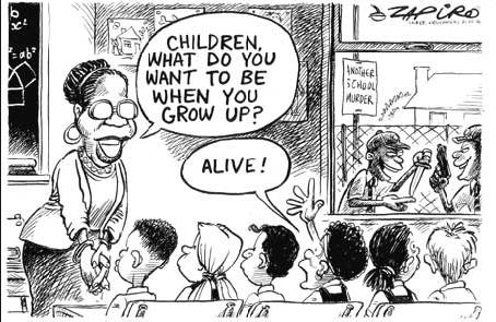 Cartoon Describtion Englisch Schule Klausur Interpretation