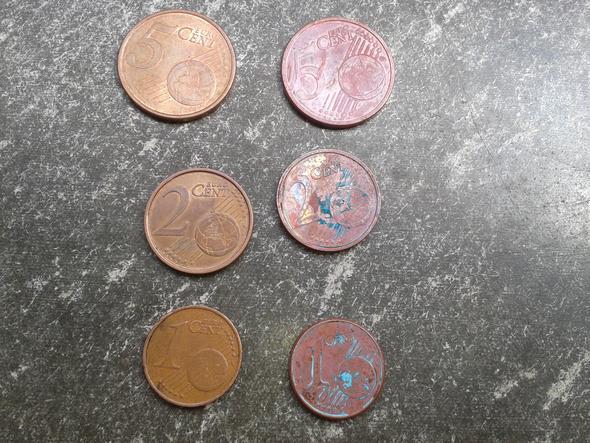 Cent Münzen Haben Eine Komische Farbe Mit Bild