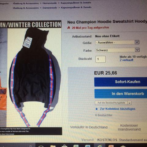 Champion pulli echt oder Fake eBay? (Kleidung, Shopping ...