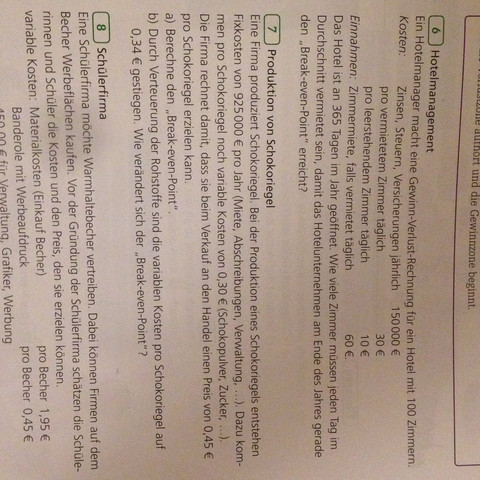 Aufgabe nr.7 - (Schule, Mathe, Hausaufgaben)