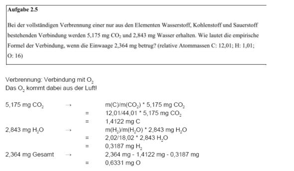 Chemie Aufgabe Zu Stöchiometrie Anorganische Chemie