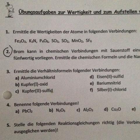 Chemie arbeit 8 klasse gymnasium ena jura 3