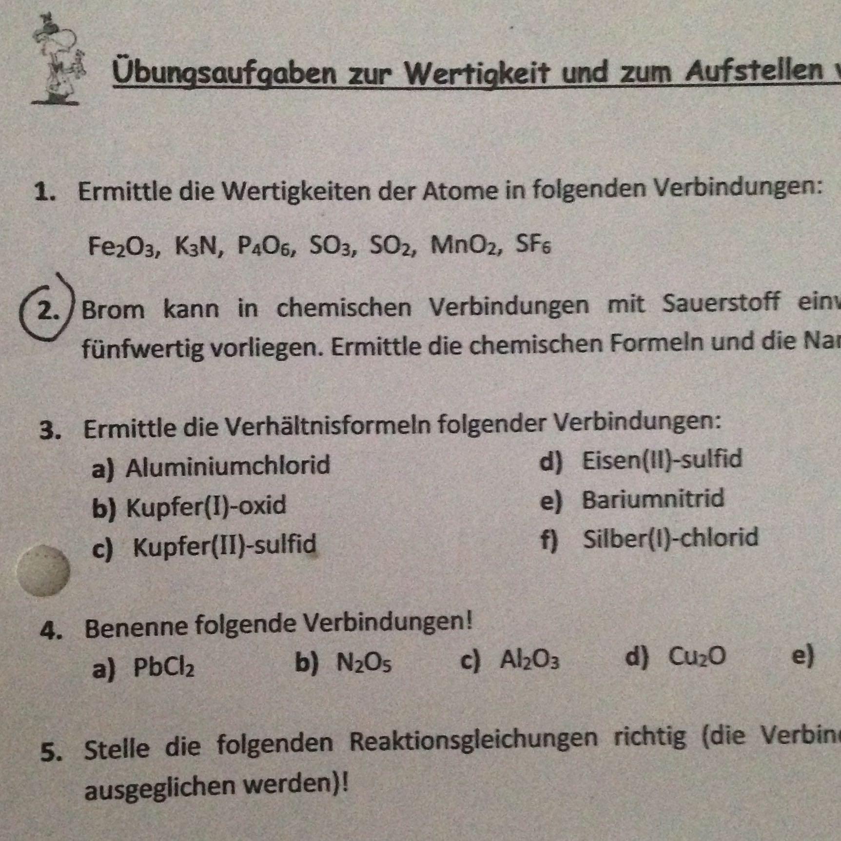 Tolle Balancieren Die Folgenden Chemischen Gleichungen Arbeitsblatt ...