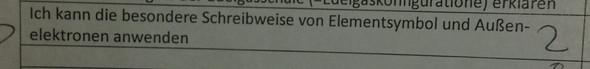 - (Arbeit, Chemie, Außenelektronen)
