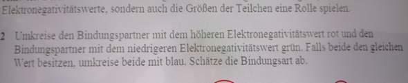Chemie Elektronegativität Bindungsart?