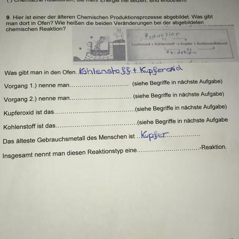 Chemie Produktionsprozess Arbeitsblatt - Hilfe? (Schule, Ofen ...
