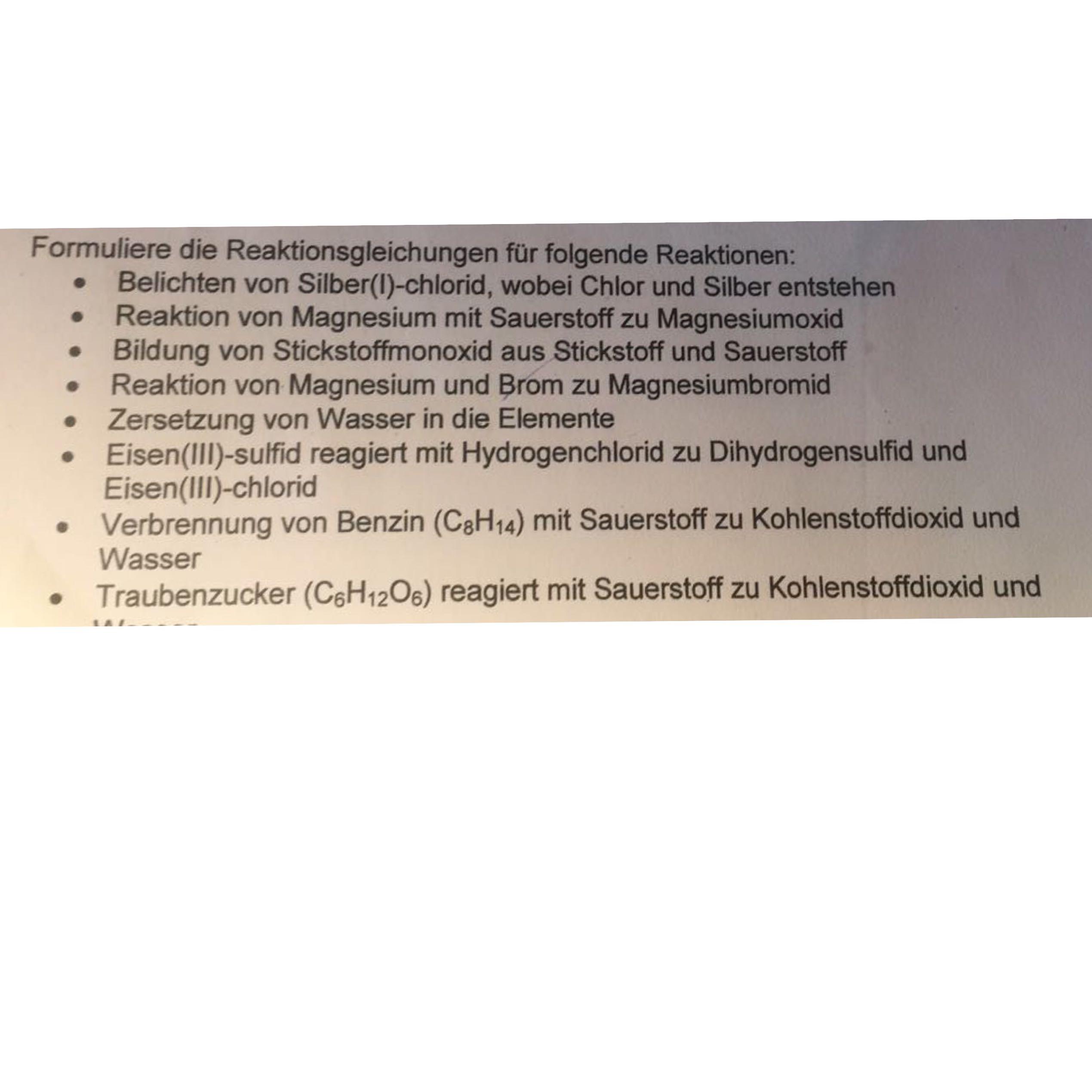 Fantastisch Arbeitsblatt Schreiben Und Auswuchten Chemischen ...