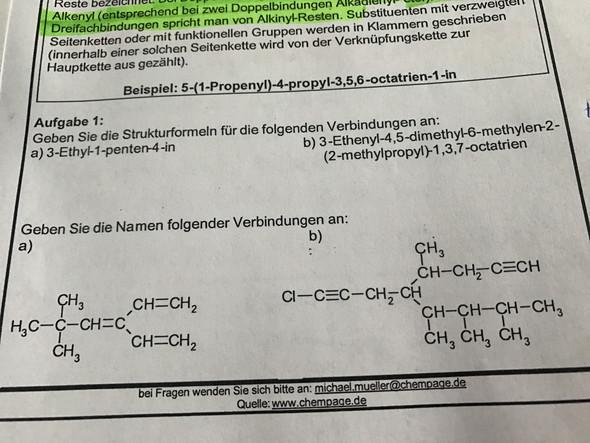 Chemie Strukturformeln schwer? (Verbindung)