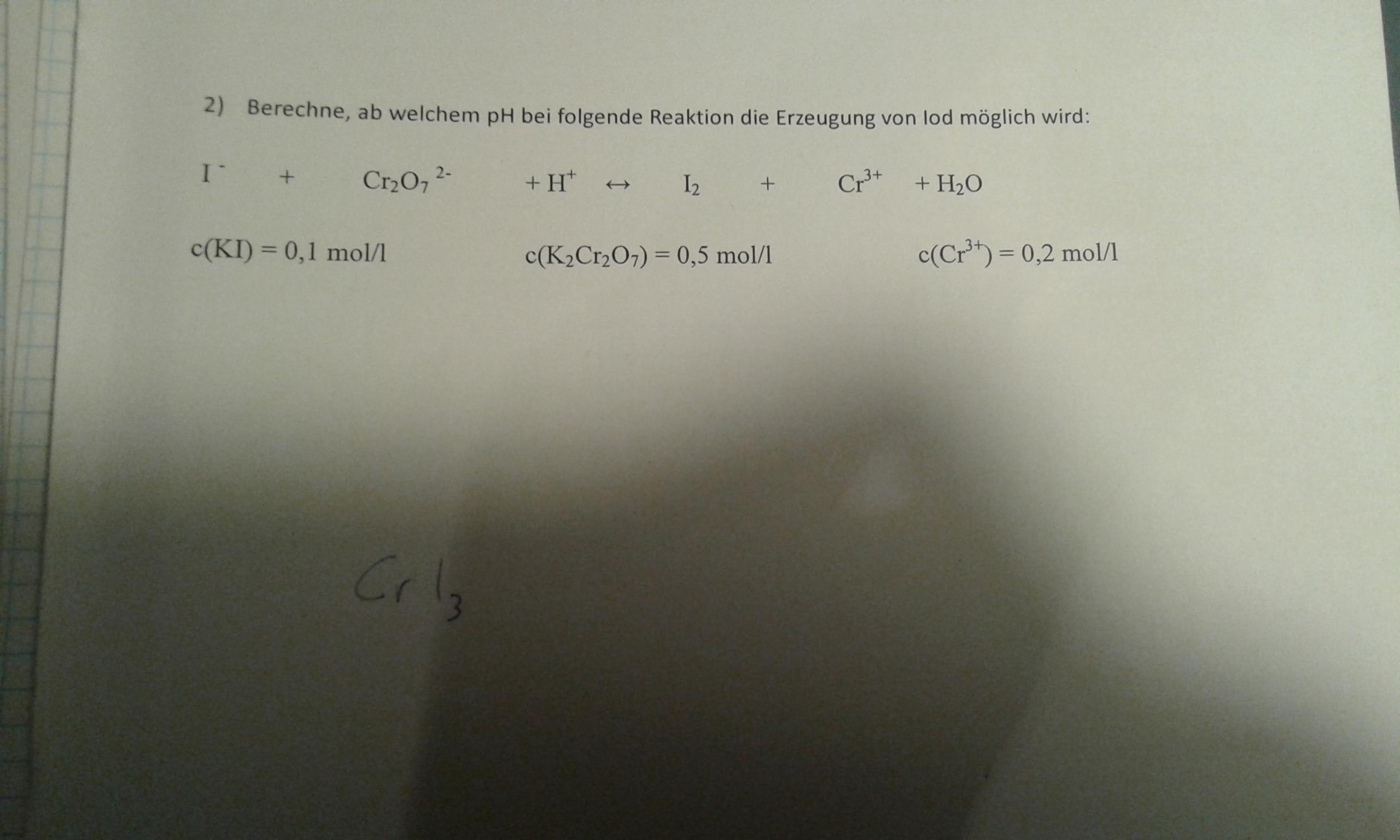 Chemie: Verstehe Rechnung nicht? (Schule, Noten, Aufgabe)