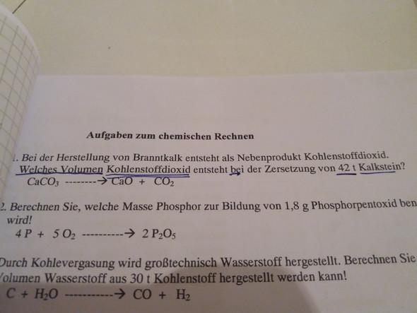 Chemie) Wie kann ich diese Aufgaben lösen? (Schule)