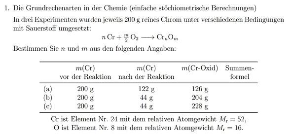 chemische st chiometrische berechnung mathe chemie rechnung. Black Bedroom Furniture Sets. Home Design Ideas