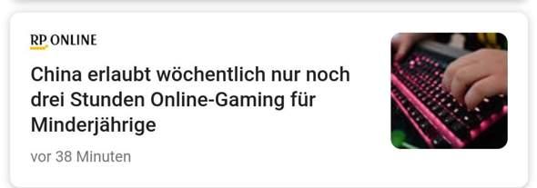 China erlaubt nur noch 3 Stunden Gaming pro Woche, auch in Deutschland einführen?