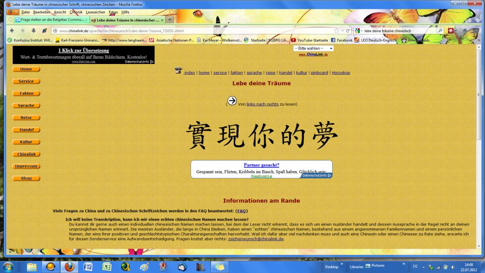 Flirten chinesisch