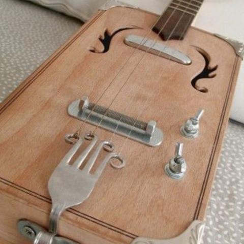 Cigarbox Guitar Bauen Gitarre Blues Humbucker
