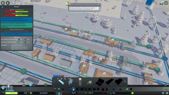 Cities Skylines, Häuser werden nicht mit Wasser und Abwasser versorgt?