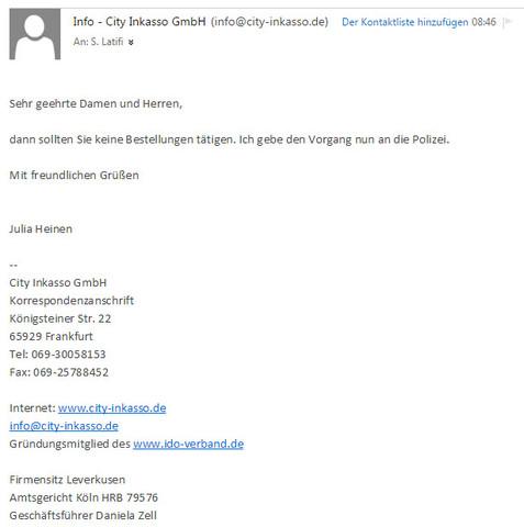 Ist City Inkasso Gmbh Betrug Oder Nicht Erfahrungen