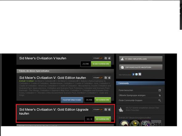 So sieht das ganze bei Steam aus. - (Spiele, Download, Steam)
