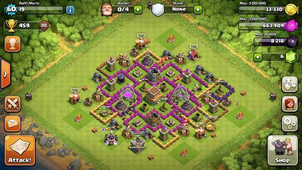 Lvl 60, RH 8 - (clash of clans, Online-Games)
