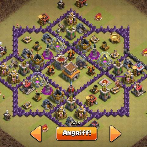 das ist die Base  - (clash of clans, Level, Drachen)