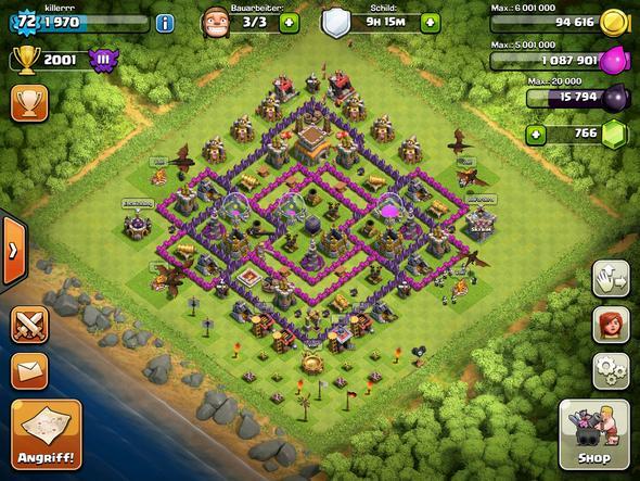 Momentane Base - (clash of clans, Base, Tips)