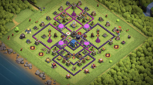 Clash of clans base layout?