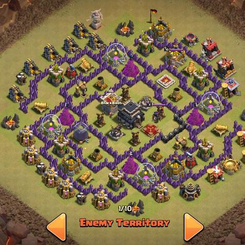 Das ist die Base die ich angreifen will. - (clash of clans, coc, Angriff)