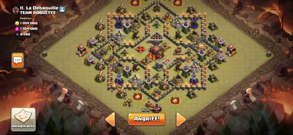 Clash of Clans Kriegsbase angreifen?